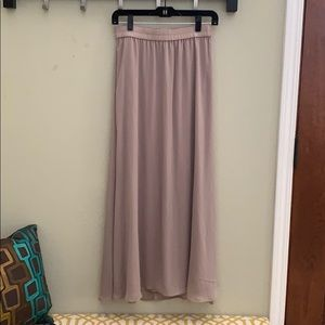 Old navy taupe maxi skirt
